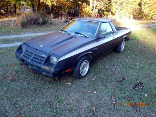 1983 dodge rampage project for sale in florence south carolina. Black Bedroom Furniture Sets. Home Design Ideas