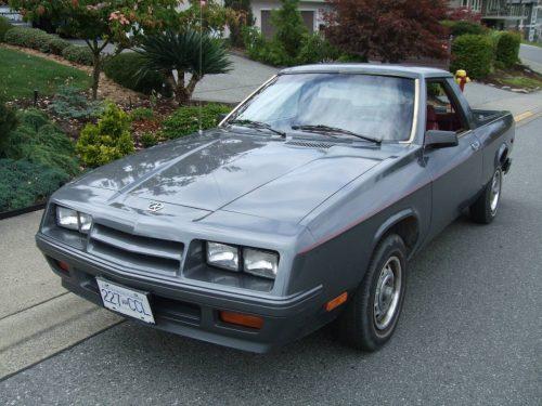 1984 Dodge Rampage Manual For Sale In Nanaimo, British